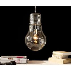 DELIFE Hängeleuchte Bulb, Deluxe Transparent 30 cm Glühbirne Hängeleuchte