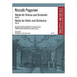 Werke für Violine und Orchester  Violine u. Klavier (Skordaturstimmung). Niccolò Paganini  - Buch