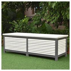 Mucola Auflagenbox Kissenbox Gartentruhe Gartenbox Auflagentruhe, mit Deckel grau
