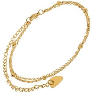 trendor 75888 Fußkette Gold auf Edelstahl Fesselkette