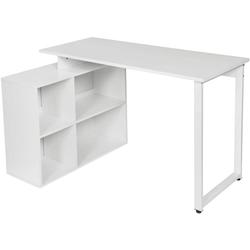 Woltu Schreibtisch, Schreibtisch mit Ablagen aus Holz - Modell Jessy