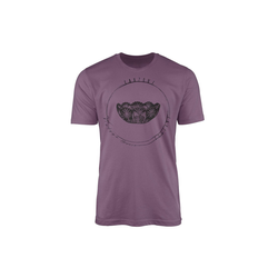 Sinus Art T-Shirt Vintage Herren T-Shirt Kristallschale lila M