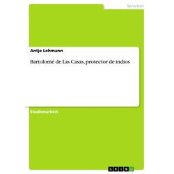 Bartolomé de Las Casas protector de indios als Taschenbuch von Antje Lehmann