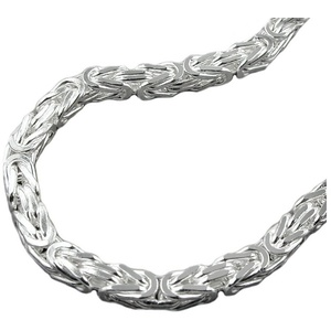 Gallay Königskette Silberkette Kette 6mm vierkant glänzend Silber 925 80 cm (inkl. Schmuckbox), Silberschmuck für Herren