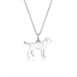 Elli Kette mit Anhänger Hund Dog Herz Tierfreund Cut-Out 925 Silber