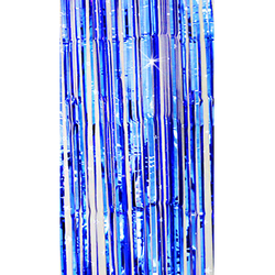 Lametta Vorhang Dekoration Party Feier Fasching Karneval - blau