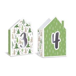 URSUS Motivpapier Weihnachtsbäume, 68 cm x 49,5 cm
