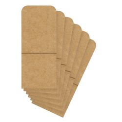 URSUS Kraftpapier Bestecktaschen, 6 Stück