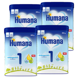 Humana Anfangsmilch 1 4 x 800 g ab der Geburt
