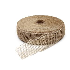 ZWARTZ Jute 5 cm Band (Juteband, Tischband, Dekoband) 5cm/40m. Natur 0000
