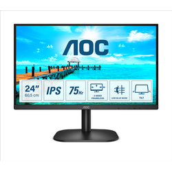 AOC MONITOR 23,8 LED IPS FHD 16:9 250 CDM, DVI/HDMI, MULTIMEDIALE