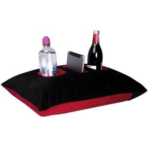 Nurtextil24 Relax ME Kissen Allzweckkissen in mehrere Farben & Größen Tablett & Getränkebehälter Sofakissen Kopfkissen Dekokissen Schwarz-Rot 40 x 60 cm