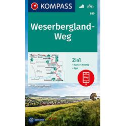 KV WK 819 Weserbergland-Weg 1:50 000
