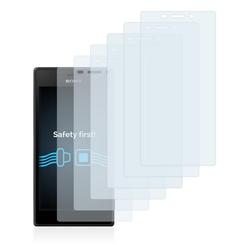 Savvies Schutzfolie für Sony Xperia M2 D2303, (6 Stück), Folie Schutzfolie klar