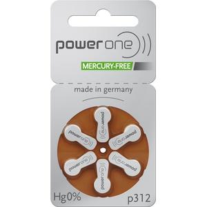 6 Stück Batterie PowerOne Typ p 312 Hörgerätebatterien (für Hörgerät: Unitron)