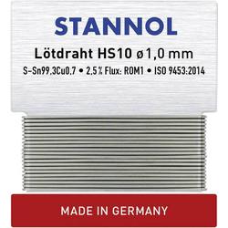 Stannol HS10 Lötzinn, bleifrei bleifrei Sn0.7Cu 6g 1.0mm