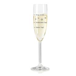 LEONARDO Sektglas mit Gravur, Guter Tag! Schlechter Tag! Frag Nicht!, Glas