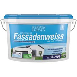 SCHÖNER WOHNEN-Kollektion Fassadenfarbe Universal-Fassadenweiss 5 l, hoch wasserdampfdurchlässig und wetterbeständig