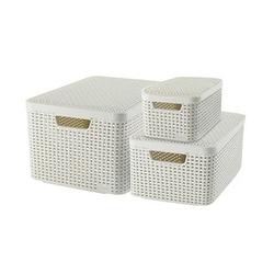 curver STYLE Aufbewahrungsboxen beige 44,5 x 33,0 x 24,8 cm