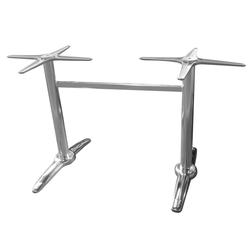 dynamic24 Tischgestell, Aluminium Tischgestell Tischbein Bistro Gastro Tisch Untergestell silber
