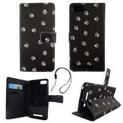 Handyhülle Tasche für Handy Wiko Lenny 3 Polka Dot Hundepfoten