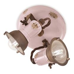 Ferroluce LED Deckenstrahler Loft Deckenstrahler 2 flammig Rosa