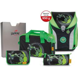 DerDieDas® Schulrucksack ErgoFlex MAX - BMX Ride (Set)