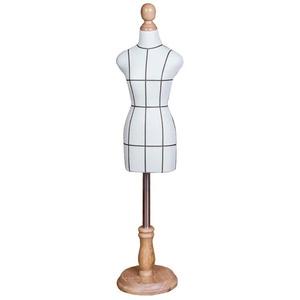 LSK- Schneiderpuppe Damenbüste Kleiner Schneider Dummy weiblich, Mini Doll Kleiderfo Schaufensterpuppe Schneiderpuppen Dekoration Puppenzubehör, verstellbare Höhe (Color : White, Size : 1/2)