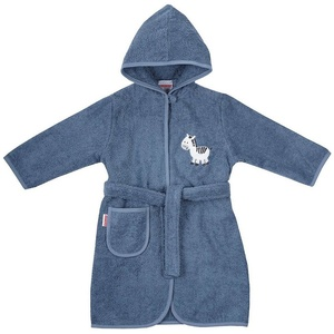 Damenbademantel Kinder-Bademantel, Sterne grau, 98/104, Wörner blau 74/80