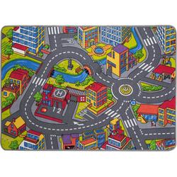 Kinderteppich Straße, Andiamo, rechteckig, Höhe 5 mm, Straßen-Spielteppich, Straßenbreite: 8,5 cm, Kinderzimmer 95 cm x 133 cm x 5 mm