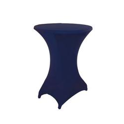 Stehtischhusse, dynamic24, Premium Gastro Stretch Tisch Husse für Stehtische Ø 60-70cm Bistrotisch Stehtisch Überwurf Tischdecke blau