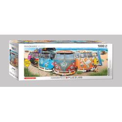empireposter Puzzle Volkswagen KombiNation 1000 Teile Panorama Puzzle - 96x32 cm, 1000 Puzzleteile