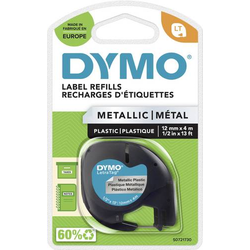 DYMO LT Schriftband Bandfarbe: Silber (metallic) Schriftfarbe: Schwarz 12mm 4m S0721730