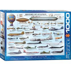 empireposter Puzzle Die Geschichte der Luftfahrt - 1000 Teile Puzzle im Format 68x48 cm, Puzzleteile