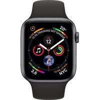Apple Watch Series 4 GPS + Celluar 44 mm Aluminiumgehäuse space grau mit Sportarmband schwarz