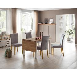 Home affaire Esstisch Samba, Breite 120 cm, mit ausklappbarer Tischplatte