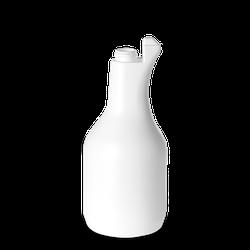 1000 ml bauchige Sprühflasche - weiß - DIN 28