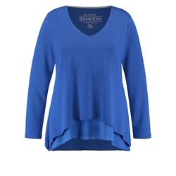 Blusenshirt in A-Linie Samoon True Blue