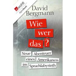 Wie wer das?: eBook von David Bergmann