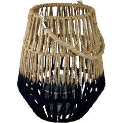 AM Design Laterne (1 Stück), aus Sisal, mit Kordel 21 cm x 36 cm x 18 cm