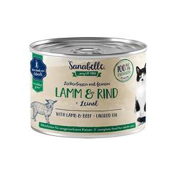 Sanabelle Nassfutter mit Lamm & Rind 195 g (Menge: 6 je Bestelleinheit)