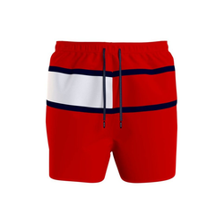 TOMMY HILFIGER Badeshorts, in Tommy Hilfiger Farben rot M