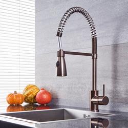 Spiralfeder-Küchenarmatur mit ausziehbarer Spülbrause – geölte Bronze – Como, von Hudson Reed