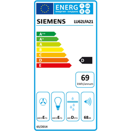 Siemens LU62LFA21 Unterbauhaube 60 cm