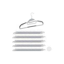 relaxdays Kleiderbügel 100 x Kleiderbügel Anti-Rutsch grau