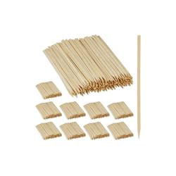 relaxdays Schaschlikspieße 2500 x Schaschlikspieße Bambus
