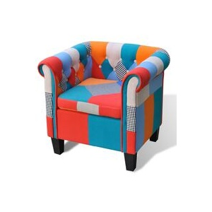Sessel mit Patchwork-Design Stoff