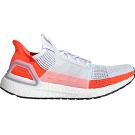 adidas Ultraboost 19 white-orange/ white, 44