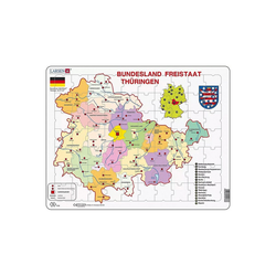 Larsen Puzzle Rahmen-Puzzle, 70 Teile, 36x28 cm, Karte Thürigen, Puzzleteile