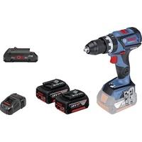 Bosch GSB 18V-60 C Professional inkl. 2 x 5,0 Ah + 1 x 4,0 Ah + L-Boxx (0615990K7N)